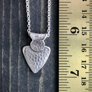 Fine Silver Necklace, Heart, Bumpy Texture, 18-Inch, Sterling Chain
