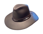 Henschel Western Leather Cowboy Dude Hat