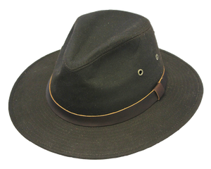 Waxed Cotton Outdoor Safari Hat