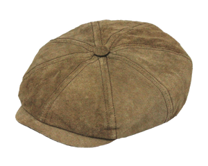 Classic Suede Leather Gatsby Cap