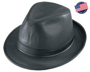 American Made Leather Fedora