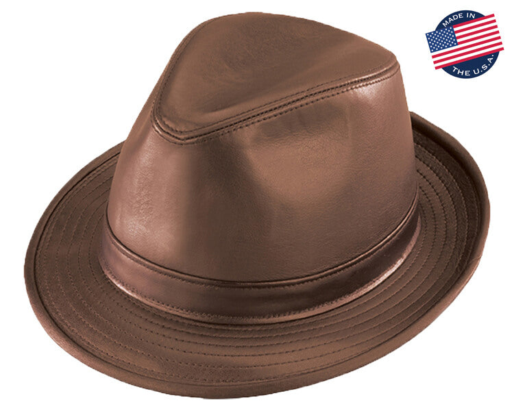 Henschel Leather Fedora Hat