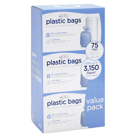 Ubbi Diaper Pail Plastic Bags Value 3 Pack
