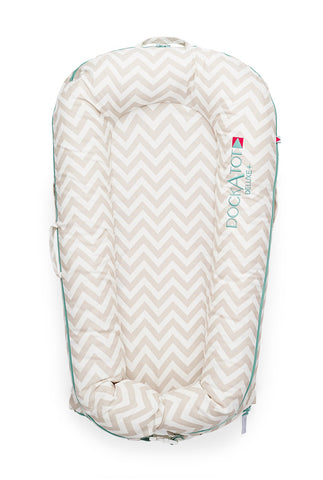 DockATot Deluxe COVER ONLY (Silver Lining - Chevron)