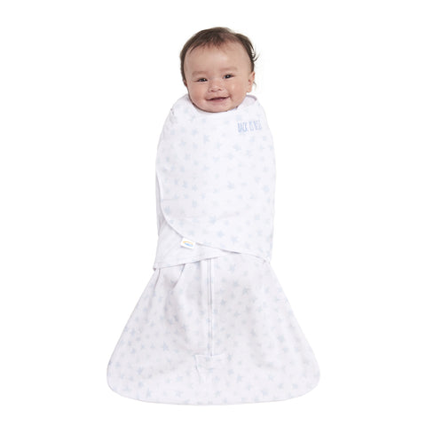 HALO SleepSack Swaddle Platinum - Pale Blue Twinkle (Small)