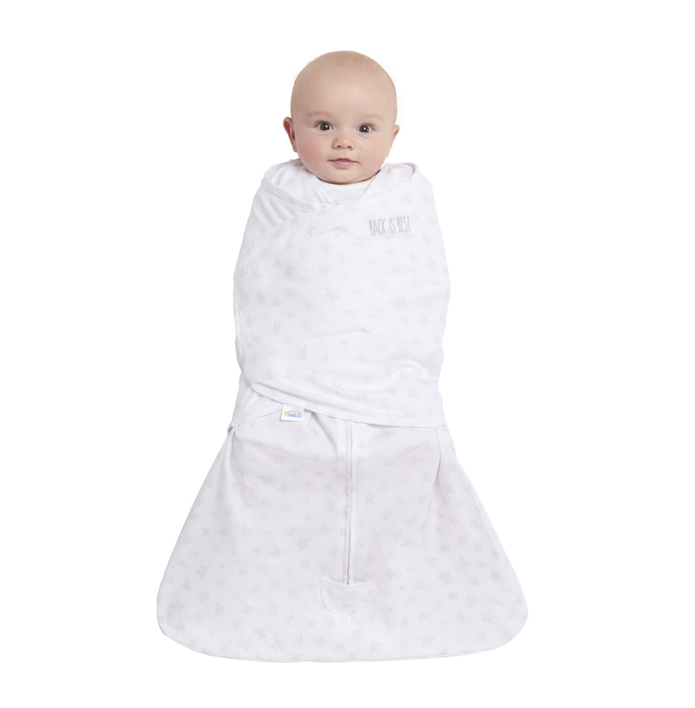 HALO SleepSack Swaddle Platinum - Grey Twinkle (Small)