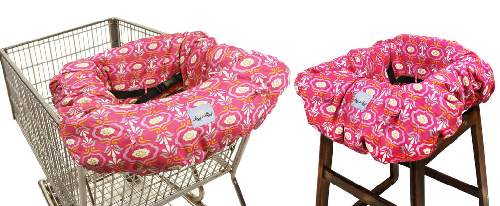 Itsy Ritzy Shopping Cart & Highchair Cover-Modern Damask