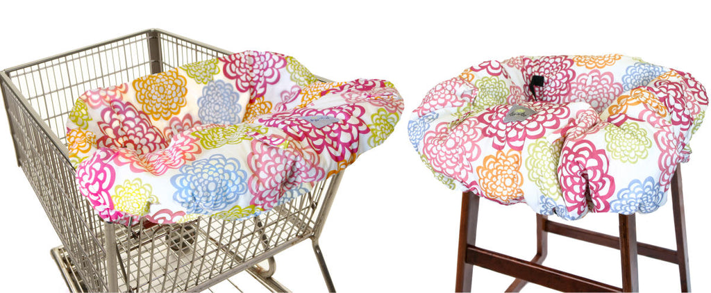 Itsy Ritzy Shopping Cart & Highchair Cover-Fresh Bloom