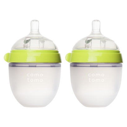Comotomo Silicone Bottle 5-Oz (2 Pack)- Green