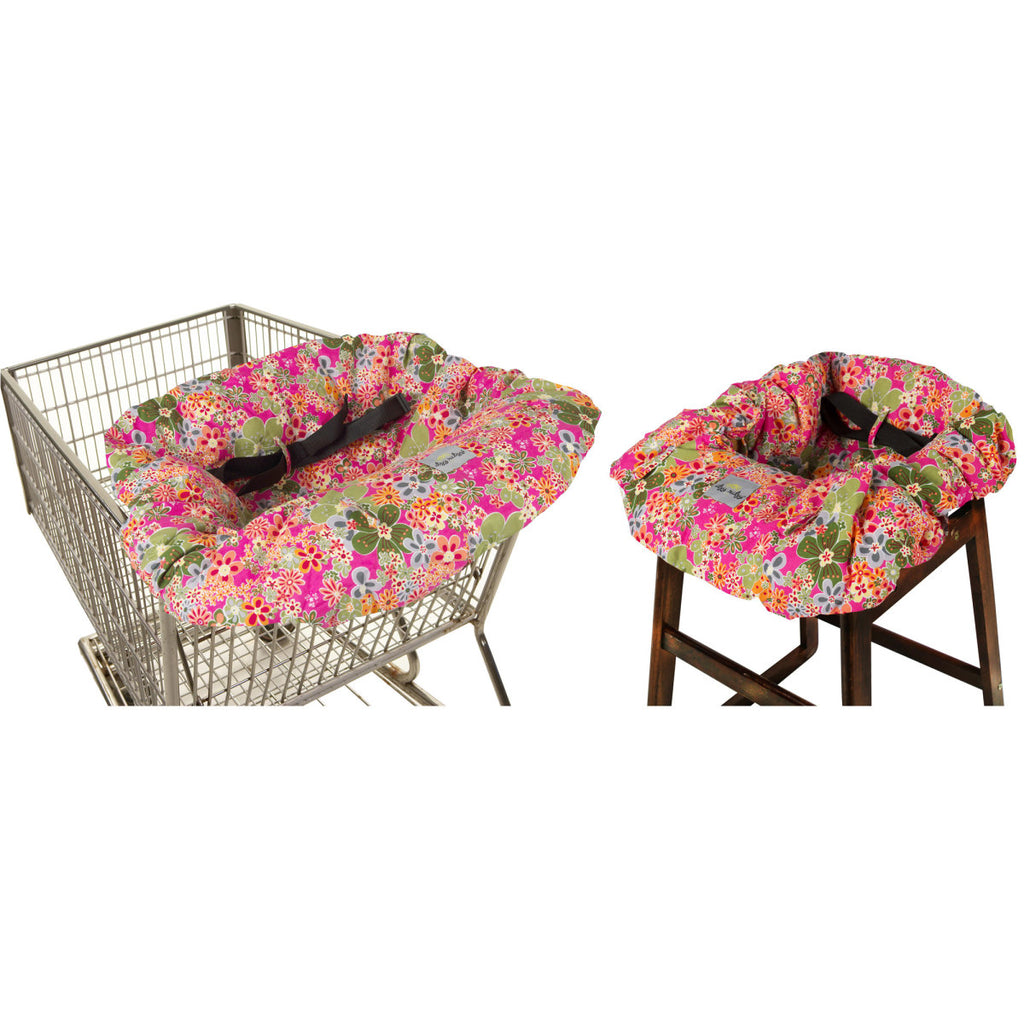 Itsy Ritzy Shopping Cart & Highchair Cover-Perky Perennials