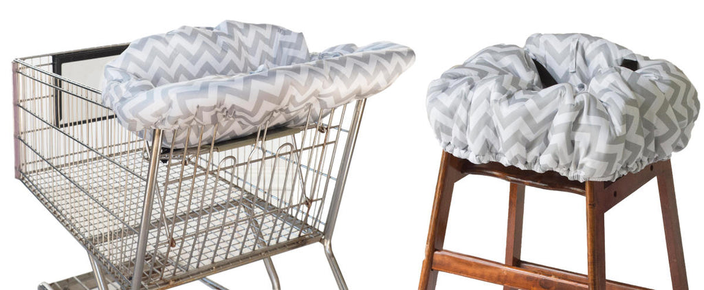 Itsy Ritzy Shopping Cart & Highchair Cover-Grey Chevron