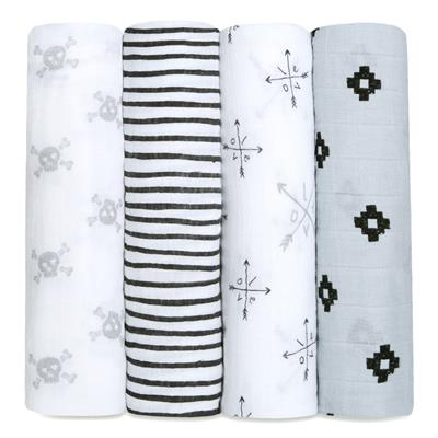 Aden and Anais Swaddle Wrap 4 Pack - Lovestruck
