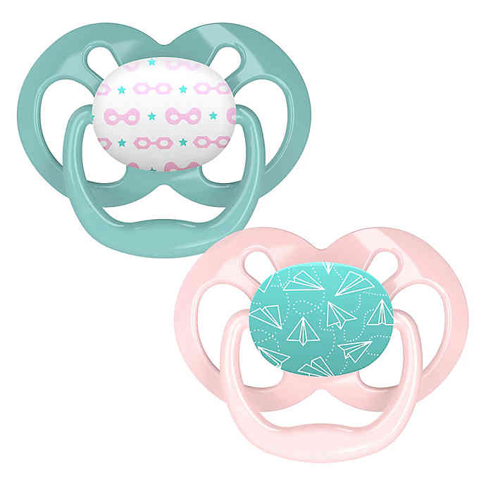 Dr. Brown's Advantage Pacifiers, Stage 2 (6-12m), Pink Airplanes, 2 count