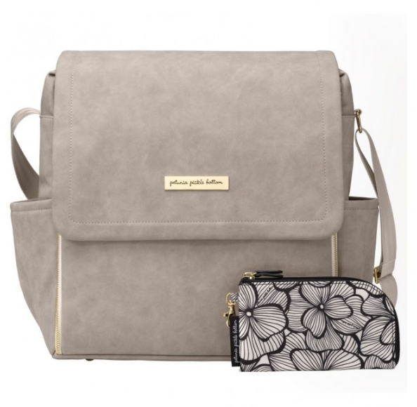 Petunia Pickle Bottom Boxy Backpack - Grey Matte Leatherette
