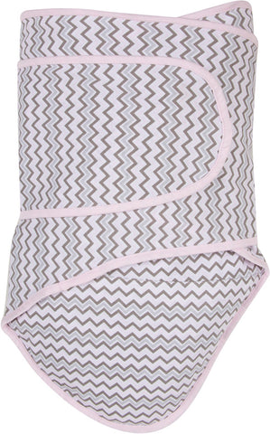 Miracle Blanket - Chevrons with Pink Trim