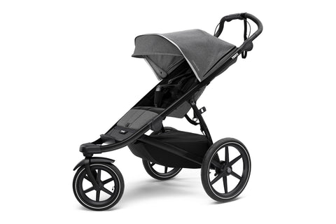 Thule Urban Glide 2 Single Stroller - Black/Grey Melange