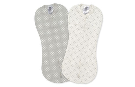 SwaddleMe Pod 2-PK - Grey/White Dot