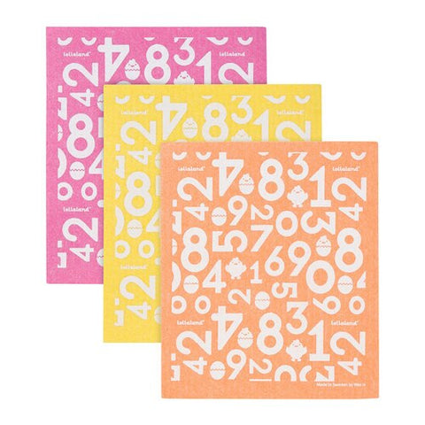 Lollaland Sponge Cloths (3-pack) - Orange, Yellow, Pink
