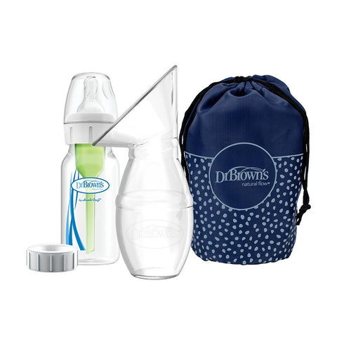 Dr. Brown's™ Silicone One-Piece Breast Pump with Options+™ Anti-Colic Bottle and Travel Bag