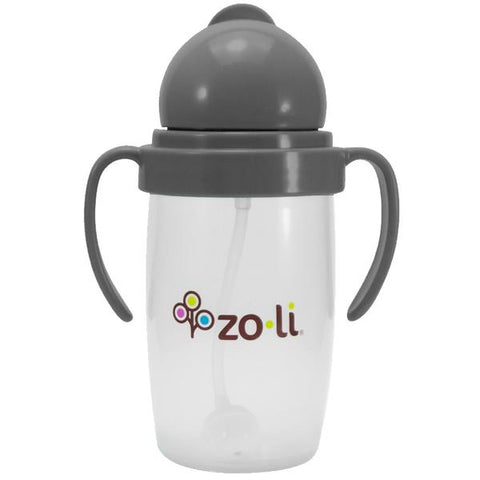 ZoLi BOT 10 oz. Straw Sippy Cup-Grey