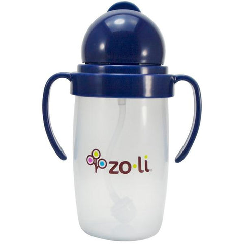 ZoLi BOT 10 oz. Straw Sippy Cup-Navy