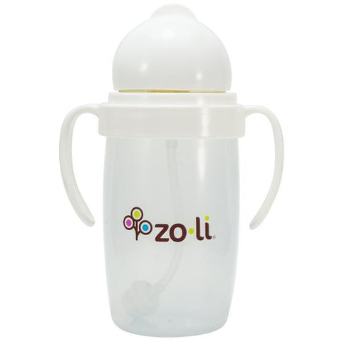 ZoLi BOT 10 oz. Straw Sippy Cup-White