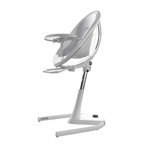 Mima Moon 2G High Chair - White/Silver