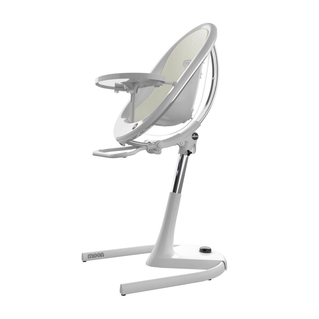 Mima Moon 2G High Chair - White/White
