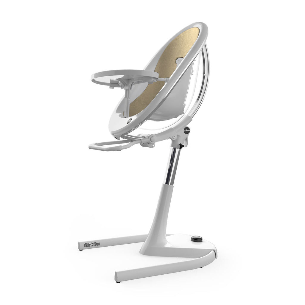 Mima Moon 2G High Chair - White/Gold