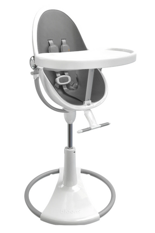 Bloom Fresco White Base High Chair-Snakeskin Grey