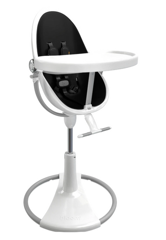 Bloom Fresco White Base High Chair-Midnight Black