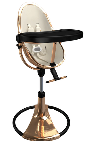 Bloom Fresco Rose Gold Base High Chair-Coconut White