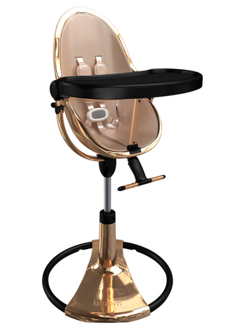 Bloom Fresco Rose Gold Base High Chair-Rose Gold