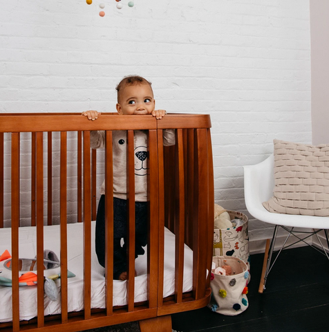 Bloom Retro Solid Wood Crib - Oak