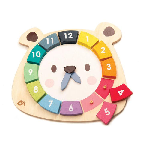 Tender Leaf Toys Bear Colours Clock