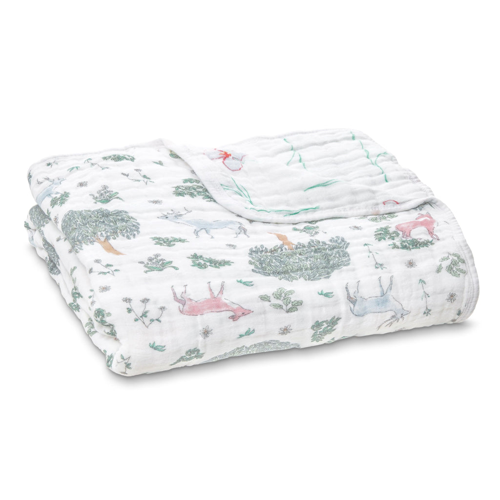 Aden and Anais Classic Dream Blanket - Forest Fantasy Dear - Traveling Tikes
