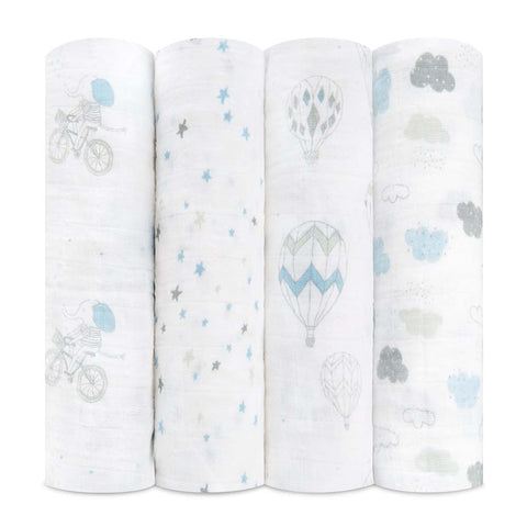 Aden and Anais Swaddle Wrap 4 Pack - Waverly