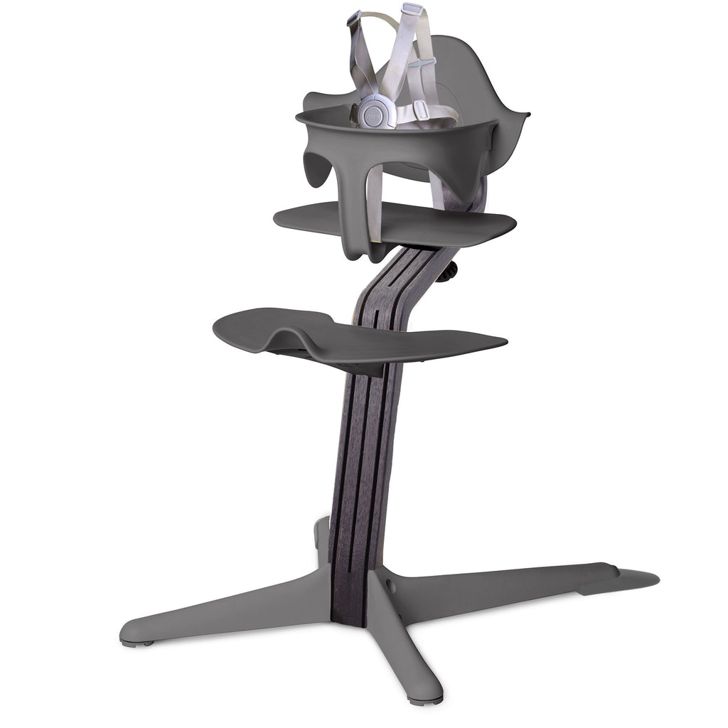 Nomi Highchair - Gray/Black Oak