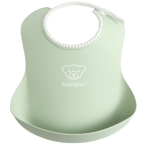 Baby Bjorn Soft Bib - Powder Green - Traveling Tikes