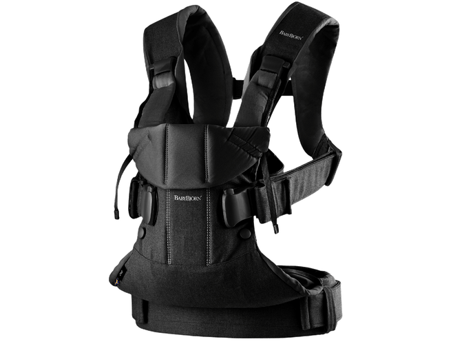 Baby Bjorn 2019 Baby Carrier One - Black Cotton Mix - Traveling Tikes