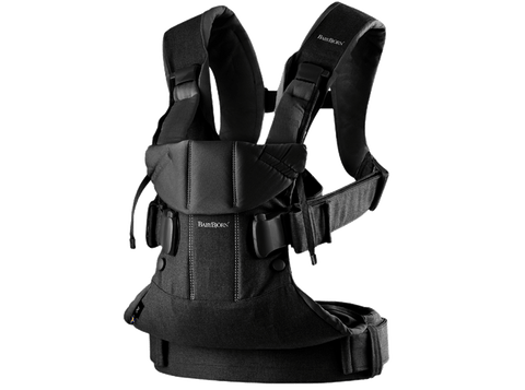 Baby Bjorn 2019 Baby Carrier One - Black Cotton Mix