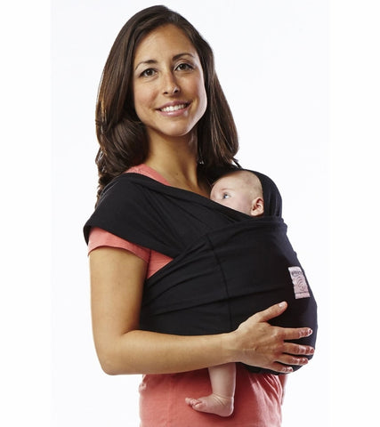 Baby K'Tan Baby Carrier in Basic Black - Xtra Small - Traveling Tikes