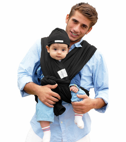 Baby K'Tan Baby Carrier in Basic Black - Medium - Traveling Tikes