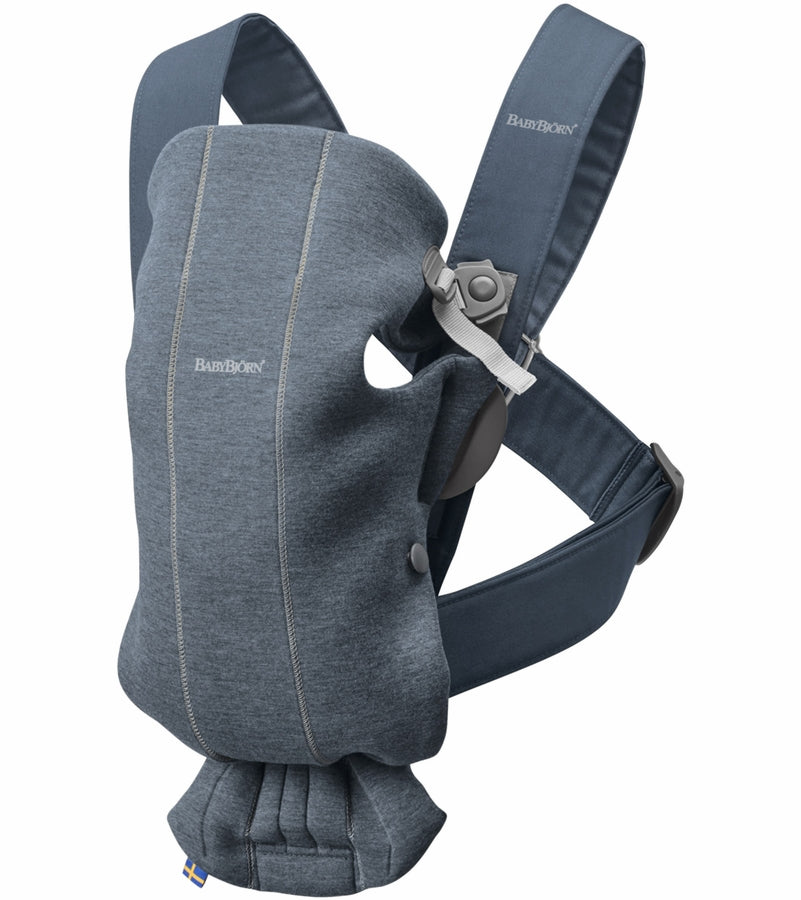 Baby Bjorn Baby Carrier Mini Cotton - Dove Blue - Traveling Tikes