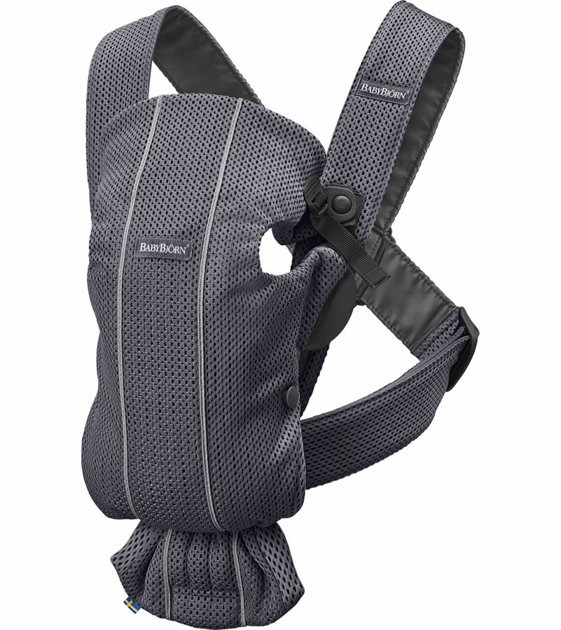 Baby Bjorn Baby Carrier Mini 3D Mesh- Anthracite - Traveling Tikes