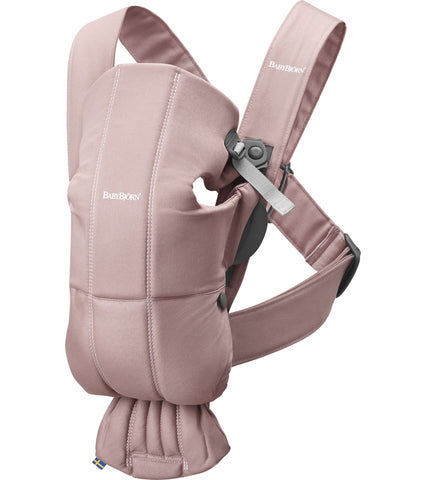 Baby Bjorn Baby Carrier Mini Cotton - Dusty Pink - Traveling Tikes