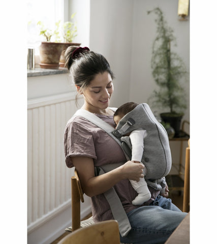 Baby Bjorn Baby Carrier Mini 3D Jersey- Light Gray