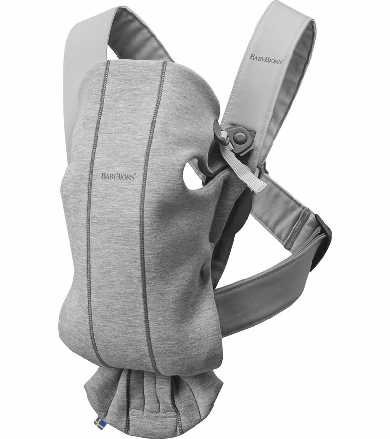 Baby Bjorn Baby Carrier Mini 3D Jersey- Light Gray - Traveling Tikes