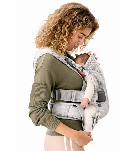 Baby Bjorn Baby Carrier One Air, 3D Mesh - Silver - Traveling Tikes