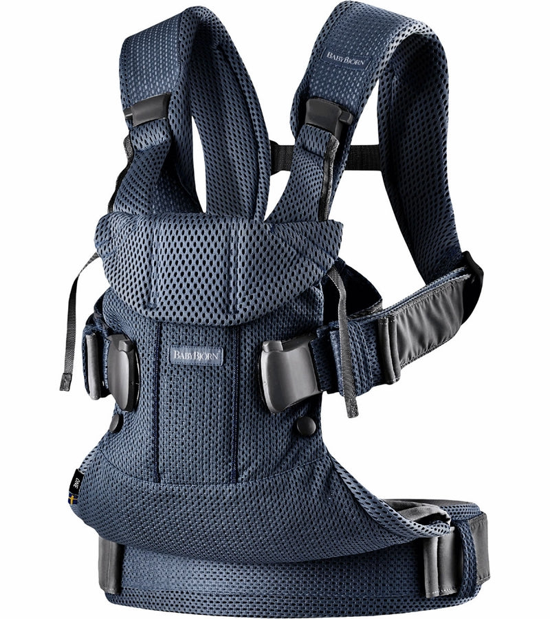 Baby Bjorn Baby Carrier One Air, 3D Mesh - Navy Blue - Traveling Tikes